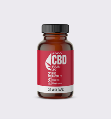 ADCO CBD PAIN CAPSULES BOTTLE