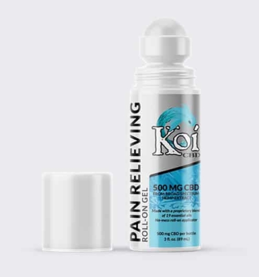 Koi CBD Pain Relieving Gel Roll On Open Web New 800x800 1