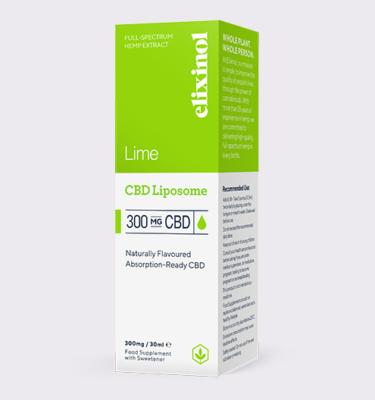 Elixinol Liposome 300 Lime Box